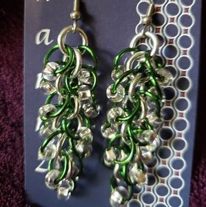 Jewelry - Chainmaille Beaded Earrings
